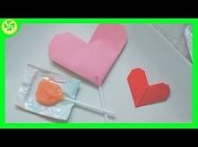 Lizak zapakowany w serce origami to świetny pomysł na prezent. A nasz kolejny filmik przeprowadzi Was przez wszystkie kroki prowadzące do jego utworzenia! :)