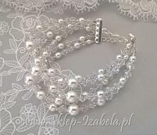 bransoletka, kryształki, perełki