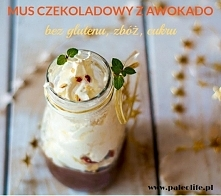Mus czekoladowy z awokado, bez cukru, pyszny i zdrowy.  (Paleo, bez glutenu, ...