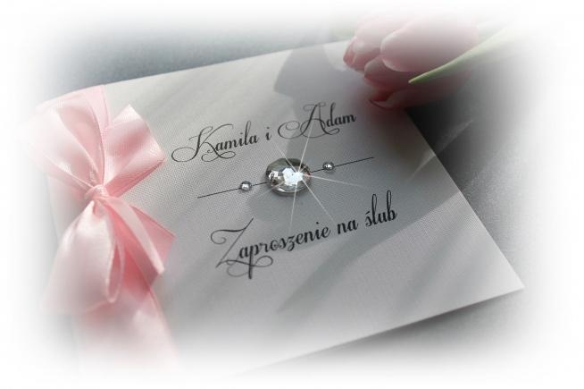 Zaproszenia Slubne Trzy Diamenty Koperta Promocja Allegro Na