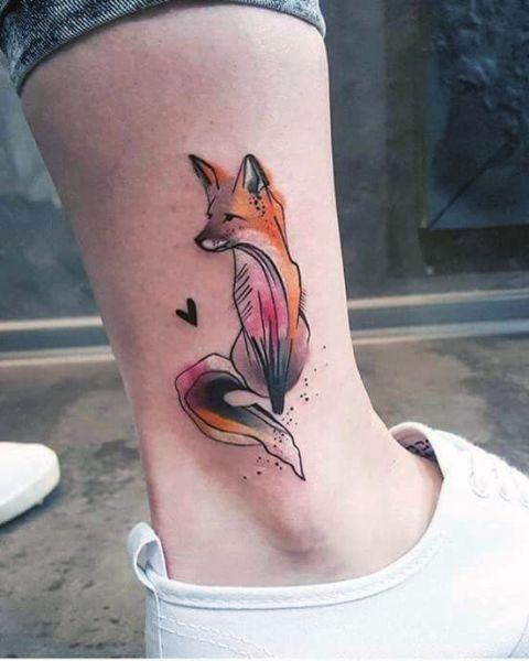 Tatuaże Damskie Lis Na Kostce Na Tatuaże Zszywkapl