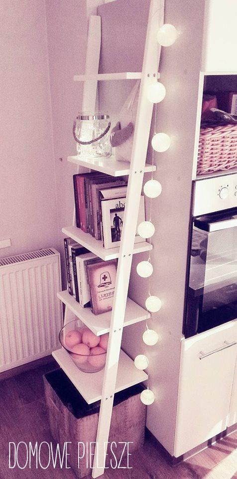 Drabinka dekoracyjna. Znajdź na Facebooku: Nasze Domowe Pielesze <3