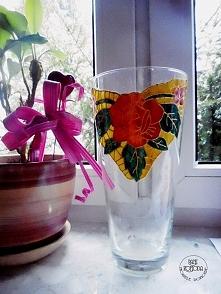 wazon DIY Malowanie na szkle