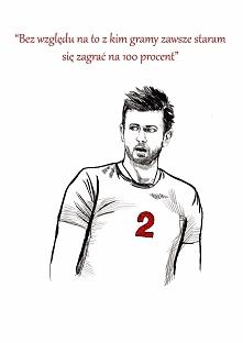 Grafiką z dedykacją dla polskiego przyjmującego Michała Winiarskiego. Drawing done for polish volleyball player Michał Winiarski.