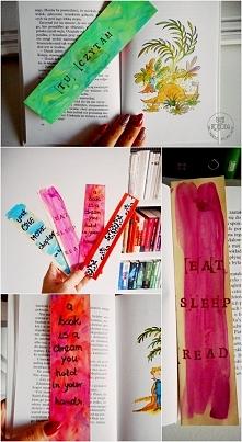 zakładki do książki DIY