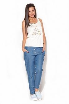 Spodnie ala jeans. Spodnie wykonane z bawełny są bardzo modne i wygodne. Świe...