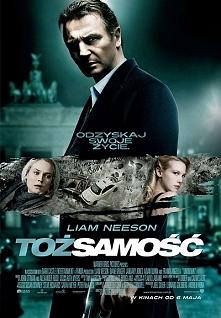 Tożsamość - ale zupełnie inna niż z Cusakiem:)trzyma w napięciu, bardzo dobra sensacja. Liam Neeson jak zwykle gra rewelacyjnie:)