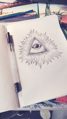 #eye #triangle #illuminati #art