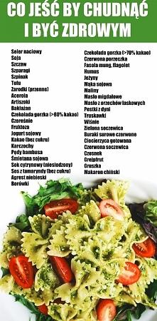 Zrobiłam dla Was mila dla oka rozpiskę co jeść by być zdrowym i  schudnąć :)