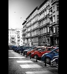 Miejski krajobraz - ulica Wrocławia