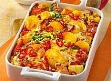 pikantna zapiekanka z ziemniaków . 200 g mrożonego groszku 1 kg ziemniaków 1 ...