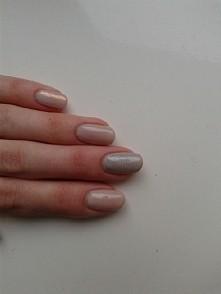 Hybryda Neonail + srebrny brokat + syrenka