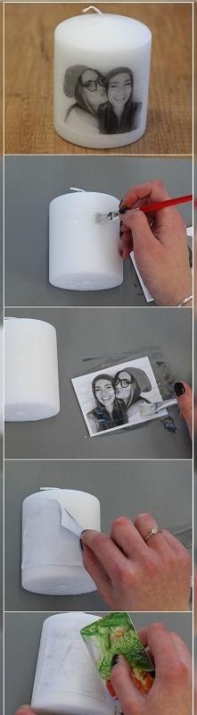 Świeca z fotografią