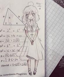 i znowu bazgroł Megu-nee :3 następną mam zamiar narysować Yuki ^^ (eh, jak ja nienawidzę matematyki...)