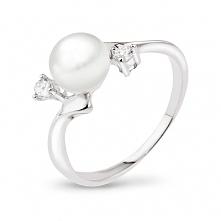 Co najczęściej kupujecie na wyprzedażach? Biżuteria w promocji -50%. Srebrny pierścionek z perłą i cyrkoniami za 49zł. Sprawdźcie sami!