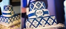 Piękny personalizowany tort weselny w obiektywie Piotra Dudy <3 Tort autorstwa Niezłe Ciacho