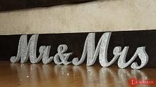 litery, napisy, inicjały z litego drewna, rękodzieło :)