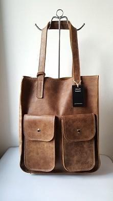 shopper Włoska skóra naturalna pracownia kaletnicza Fb/ Atelier Torebek wysył...