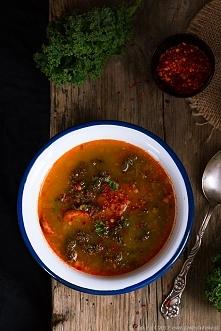 Zupa z kiełbasą chorizo i jarmużem