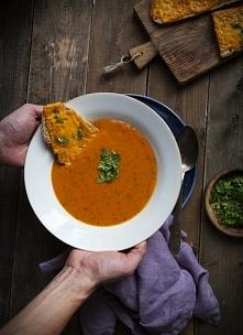 Jesienna zupa z pieczonej d...