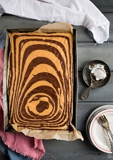 Ciasto zebra   Przepis po k...