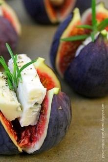 Figi + gorgonzola + czarny ...