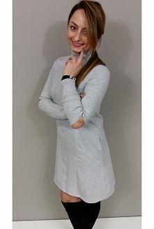 Ciepła sukienka ze srebrną nitką dostępna w Kobiecowo Butik