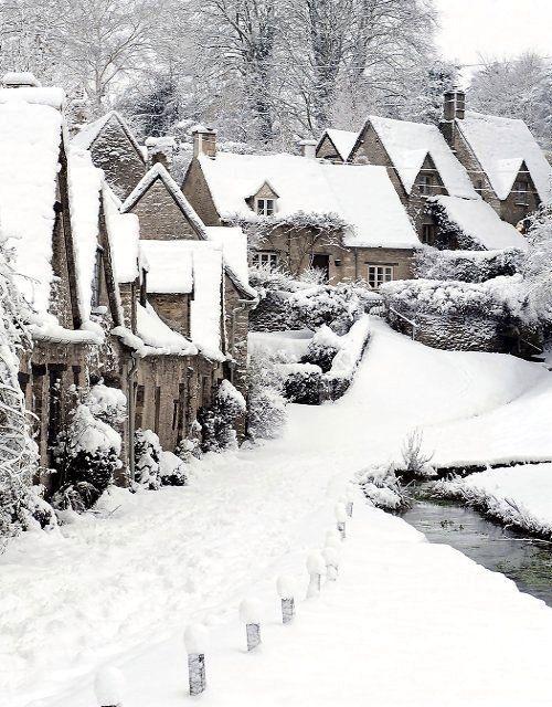 Bibury Winter, Gloucestershire, England