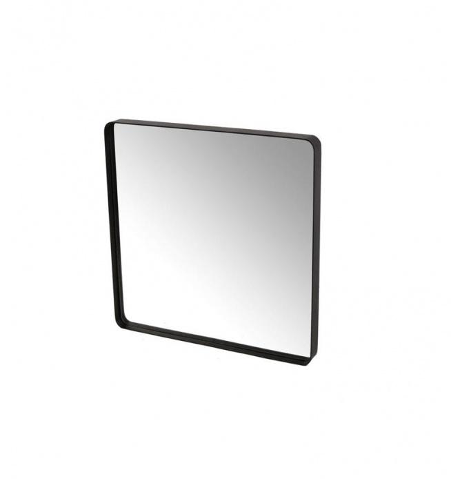 LUSTRO W METALOWEJ RAMIE 50X50 CZARNE  Stan: Nowy produkt  Lustro wiszące w metalowej czarnej ramie o wymiarach 50X50 w kształcie KWADRATA. Piękne lustro do łazienki, do salonu lub na korytarz.  Idealny dodatek do dekoracji i wystroju wnętrza. Z tyłu posiada zawieszki umożliwiające powieszenie na ścianie. Wysokość 50 cm Szerokość 50 cm