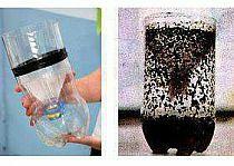 """Prosty sposób jak pozbyć się muszek i komarów :)  1 szklanka wody 1/4 szklanki z brązowym cukrem 1 g drożdży 2-litrowa butelka plastikowa  1. Przetnij plastikową butelkę na pół. 2. Wymieszaj brązowy cukier z ciepłą wodą. Niech ostygnie. Zimną miksturę wlać w dolną części butelki. 3. Dodać drożdże. Nie trzeba mieszać. Drożdże w wodzie wytwarzają automtycznie dwutlenek węgla, który przyciąga komary. 4. Umieścić górną część butelki (lejkiem w dół) w drugiej połowie butelki, sklejając je razem. 5. Owiń butelkę z czymś czarnym, pozostawiając odkrytą górę. Umieścić w miejscu z dala od zwiększonego ruchu (Komary przyciągają rzeczy w kolorze czarnym lub białym.)  Najlepiej wymieniać """"zawartość"""" z denatami co dwa tygodnie o ile ich nie ma aż tak dużo :)"""