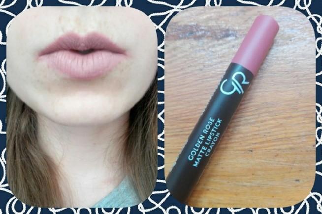 Pomadka w kredce Golden rose Matte Lipstick nr22. Piękna i długotrwała :) :* :3