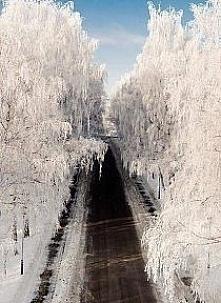droga zimą jest cudowna
