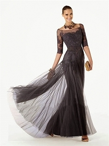 Luxury tulle & lace mermaid scoop Vintage Prom Dresses PVSD0087