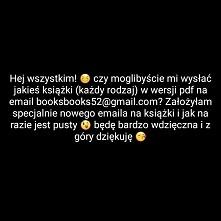 Będę bardzo wdzięczna za każdą książkę! ;))