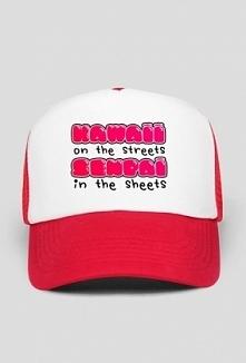 Kawaii czapka ze śmiesznym ...