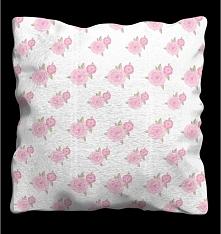 Poduszka dekoracyjna z nadrukiem sprawią, że twoi goście będą pod wrażeniem wystroju w twoim mieszkaniu. Poduszka z nadrukiem z motywem RÓŻYCZEK W STYLU ROMANTYCZNYM- poduszka j...