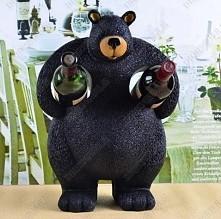 Stojak na wino- niedźwiedź