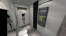 lazienka cd #mała łazienka #biel #czerń