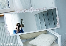 HAART.pl blog DIY Zwykłe lustro z IKEA przemalowałam i ozdobiłam.