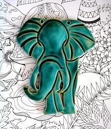 Słoń ceramiczny