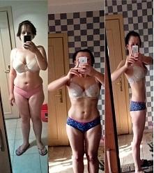 Moja 14 miesięczna walka:)(-22kg). I dalej walczymy, teraz chcę wyżeźbić ciał...