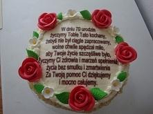 Tort zrobiłam w prezencie dla teścia :)