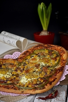 """Pizza """"Od serca""""  Przepis po kliknięciu w zdjęcie."""