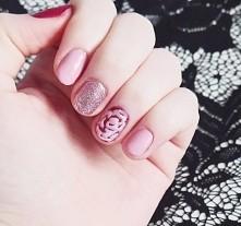 Walentynkowe paznokcie  #nails #valentinesnails #paznokcie #róż #rosegold #czerwien #blondeworld