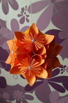 Kula z kwiatów kusudama #1