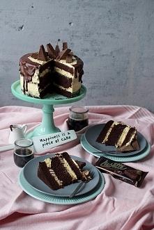 OBŁĘDNY TORT CZEKOLADOWY Z KREMEM O SMAKU AJERKONIAKU I WAFELKÓW LUSETTE  Prz...