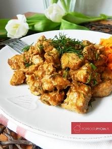 Kurczak w sosie śmietanowo-koperkowym
