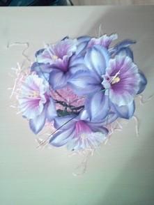 kwiaty dekoracja zrobiona p...