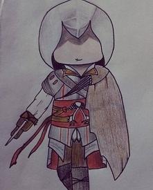 Ezio na zamówienie :D Mogło wyjść lepiej, ale jego strój ma bardzo dużo małych elementów + brązowa kredka postanowiła zniknąć i musiałam inaczej stworzyć brązowy kolor. Ten rysu...