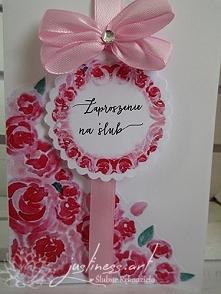 Zaproszenie z kolekcji akwarele - model różany gaj